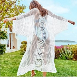 {October Love}Sheer Long Sleeve Swim Cover-up